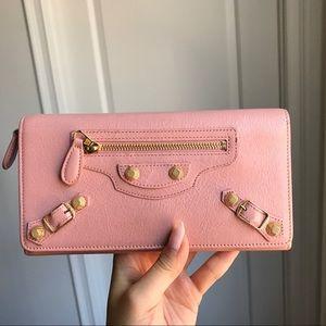 Balenciaga Pink Continental Wallet